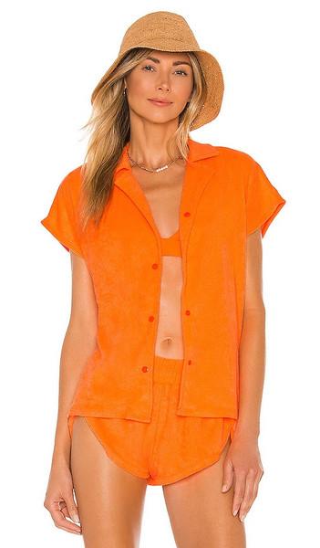 Lovers + Friends Lovers + Friends Elena Shirt in Orange