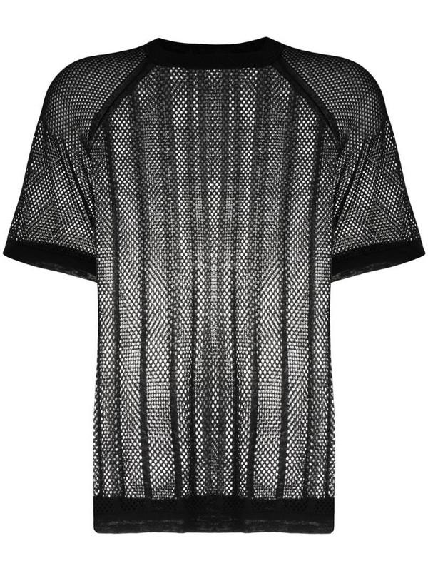Filippa K Soft Sport mesh knit T-shirt in black