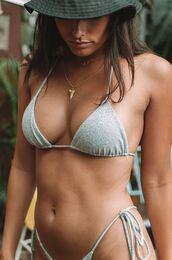 swimwear,two piece mafia,triangle bikini,string bikini,adjustable bikini top