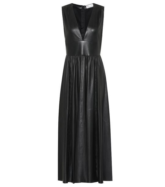REDValentino Leather maxi dress in black