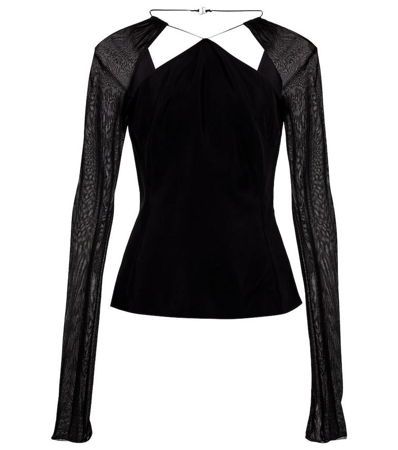 Nensi Dojaka Cut-out top in black