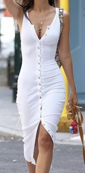 dress,button up,white,black dress,summer dress