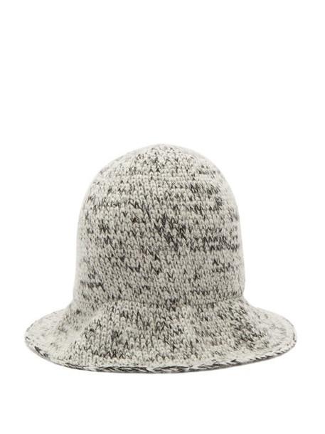 Reinhard Plank Hats - Elongated Wool Bucket Hat - Womens - Black And White