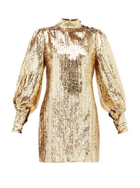 Borgo De Nor - Lima Sequinned Mini Dress - Womens - Gold