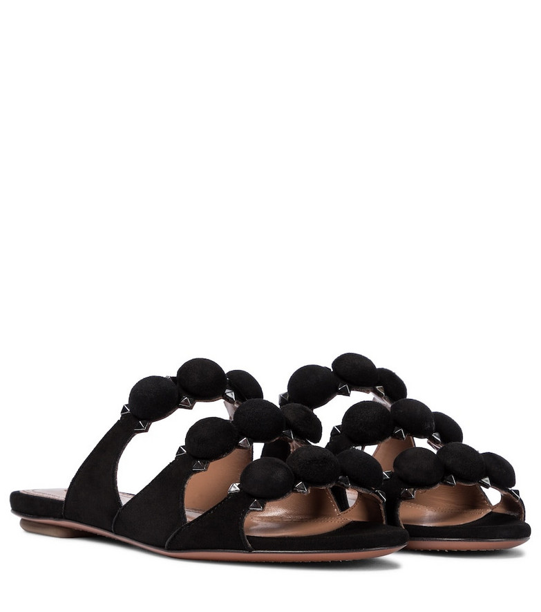 Alaïa Bombe suede sandals in black
