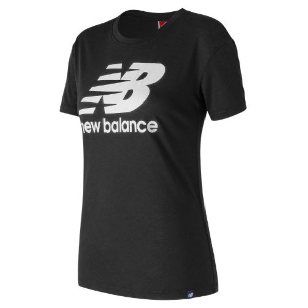 New Balance 73504 Women's NB Logo Tee - Black (WT73504BK)