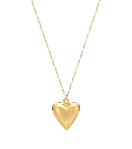 Sophie Buhai Petite Heart 18kt gold necklace in metallic