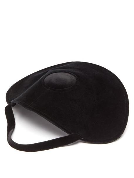 Loewe - Halo Velvet Hat - Womens - Black