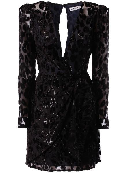 self-portrait Leopard Mini Dress