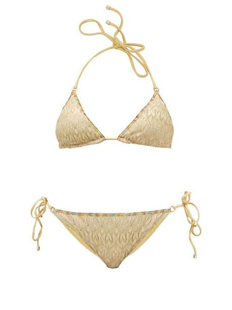 Missoni Mare - Zigzag Lamé Bikini - Womens - Gold