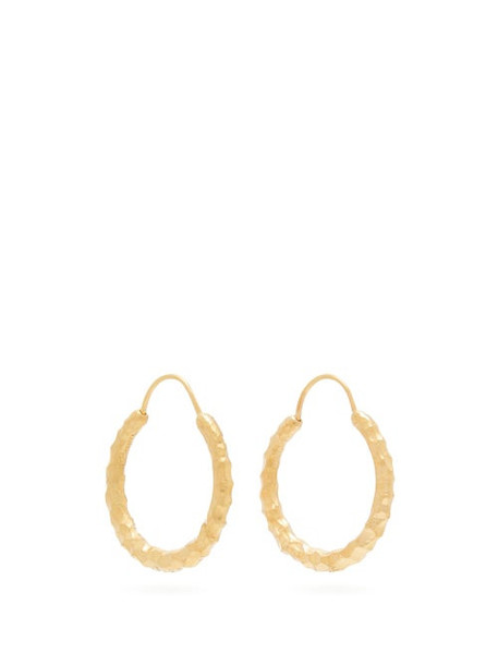 All Blues - Hungry Snake Gold Vermeil Hoop Earrings - Womens - Gold