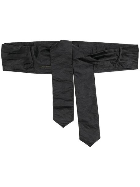 Philosophy Di Lorenzo Serafini pleated satin tie waist belt in black
