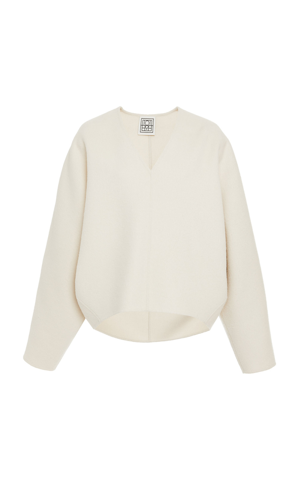 Toteme Rennes Wool And Cashmere Sweater in ivory