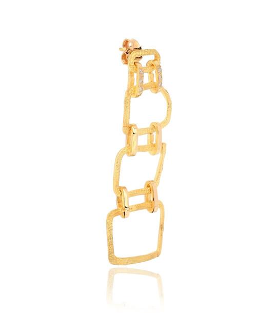 Elhanati Roxy Delight 18kt gold single earring with diamonds