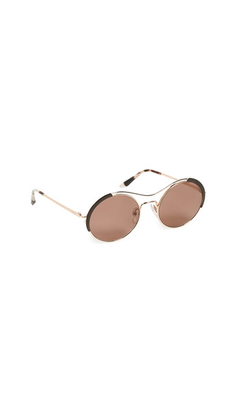 Prada Round Sunglasses in brown / gold / rose