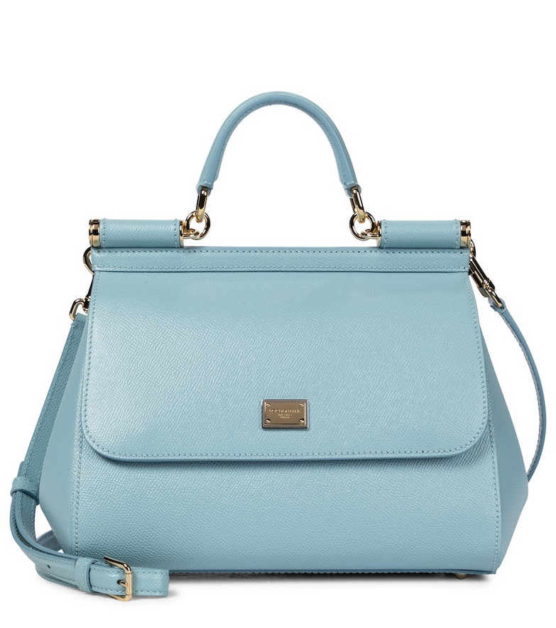 Dolce & Gabbana Sicily Medium leather shoulder bag in blue