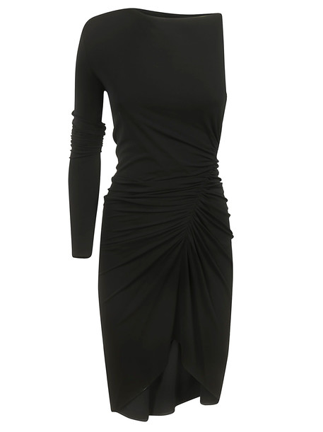 Alexandre Vauthier One-sleeve Draped Dress in black