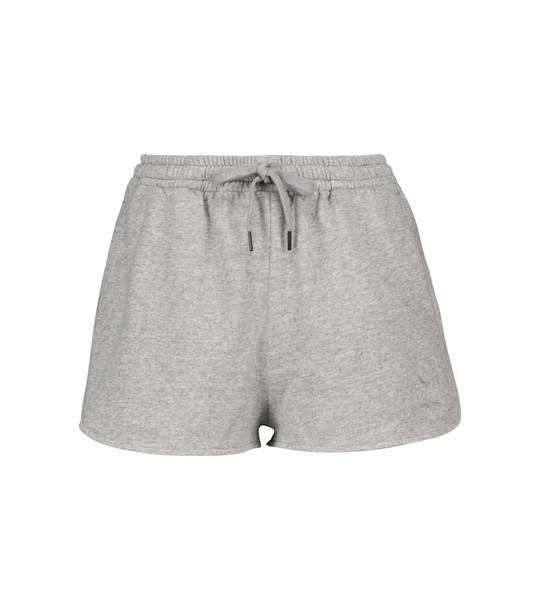 Isabel Marant, Étoile Mifikia cotton-blend jersey shorts in grey