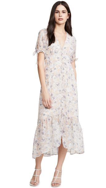 ASTR the Label Chandler Dress in grey / peach
