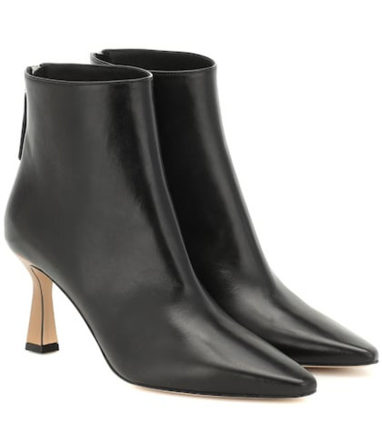 Wandler Lina leather ankle boots in black