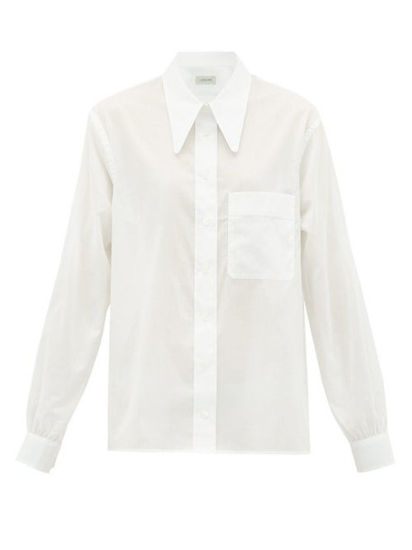 Lemaire - Batist Point-collar Cotton-voile Shirt - Womens - White