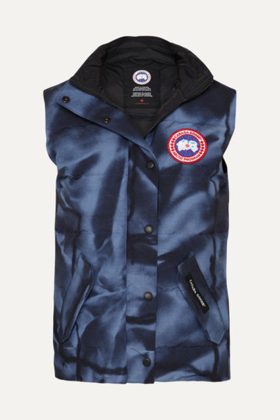 Canada Goose - Freestyle Quilted Printed Shell Down Vest - Blue