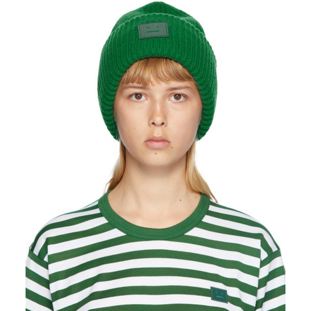 Acne Studios Green Pansy N Face Beanie