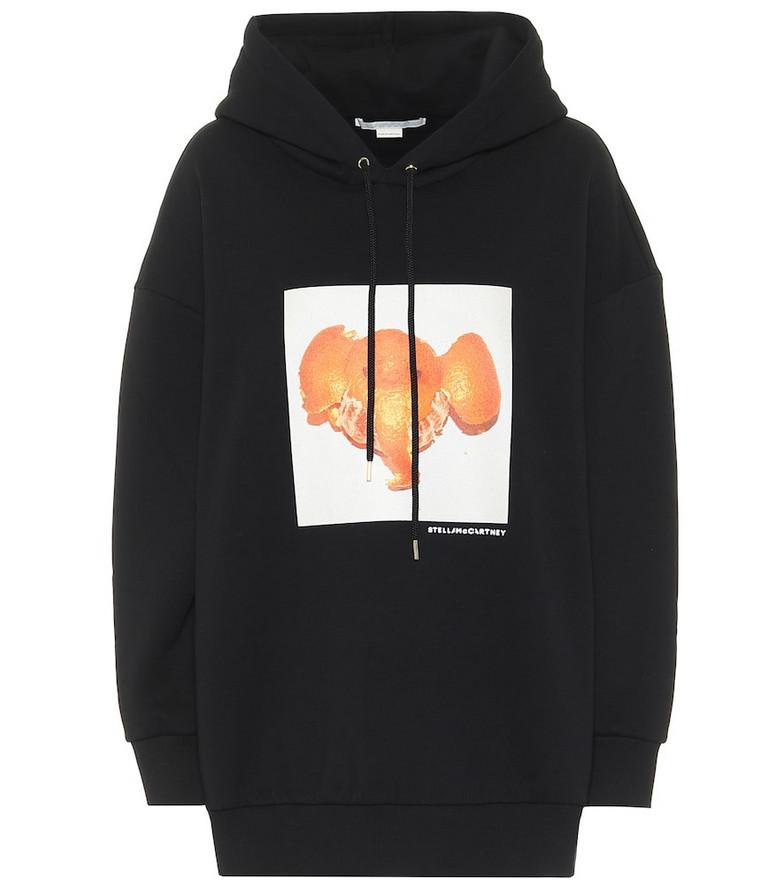 Stella McCartney Oversized cotton hoodie in black