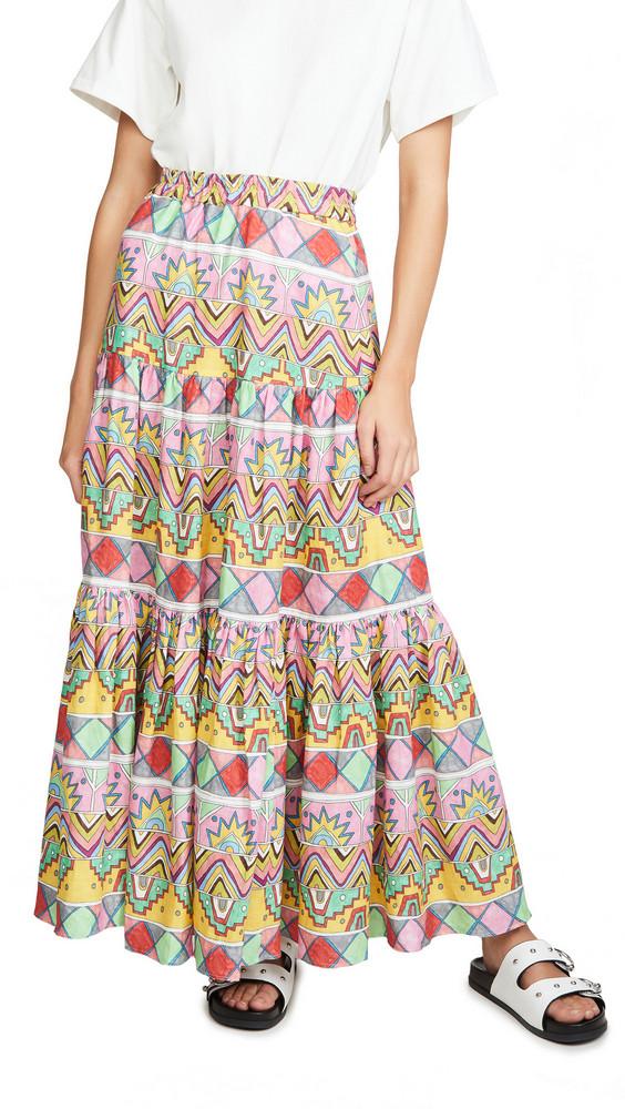 Mira Mikati Maxi Three Panel Skirt in multi