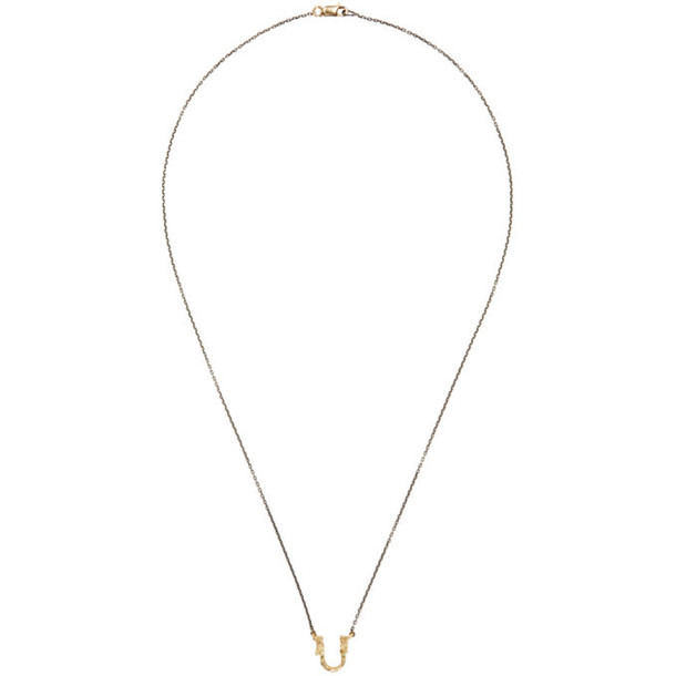 Pearls Before Swine Silver & Gold Sliced Setting Necklace