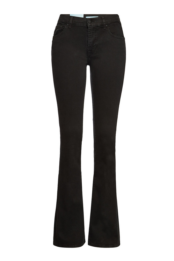 7 for all Mankind Bair Bootcut Jeans  in black
