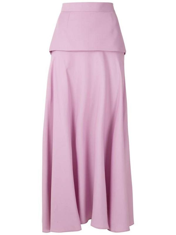 Reinaldo Lourenço layered midi skirt in pink