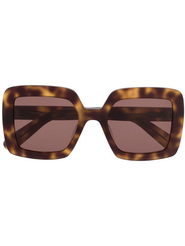Courrèges Eyewear tortoiseshell-effect square sunglasses in brown