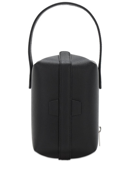 VALEXTRA Tric Trac Grained Leather Bag in black