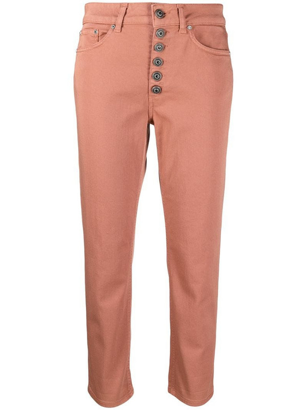 Dondup straight-leg cropped jeans in pink