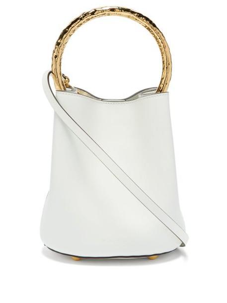 Marni - Pannier Leather Bucket Bag - Womens - White