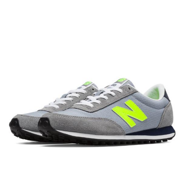 New Balance 410 Winter Brights Women's Running Classics Shoes - Grey, Hi-Lite (WL410WBC)