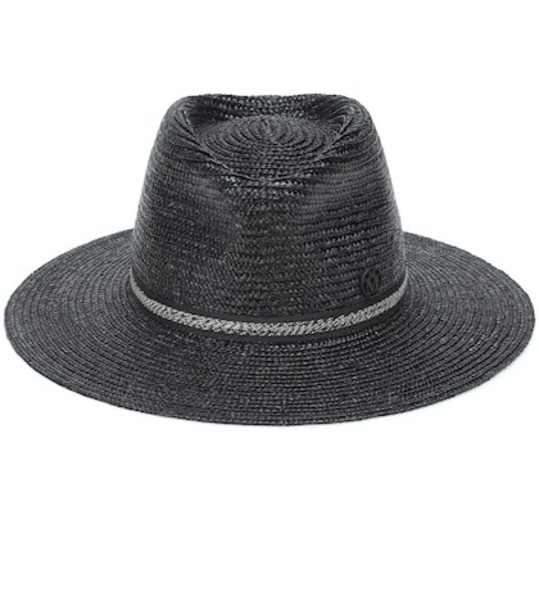 Maison Michel Charles straw fedora in black