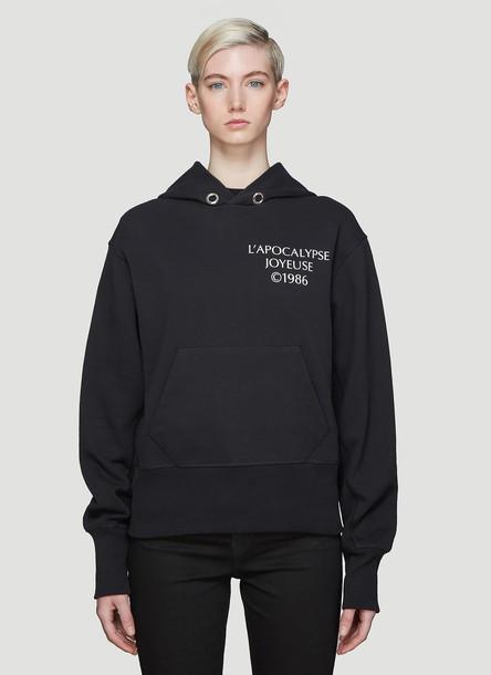 Helmut Lang Hooded Hack Logo Sweatshirt in Black size L