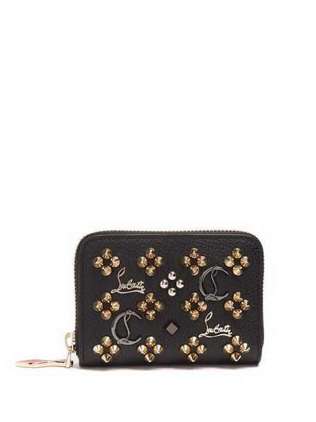 Christian Louboutin - Panettone Loubisky Leather Coin Purse - Womens - Black Gold