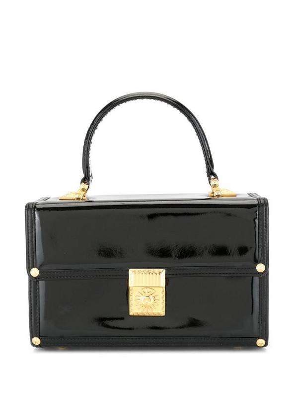 Versace Pre-Owned Sunburst vanity bag in black