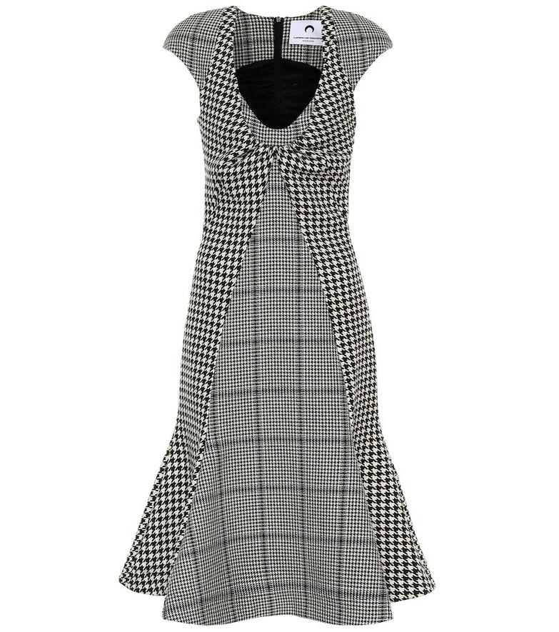 Marine Serre Checked wool midi dress in grey