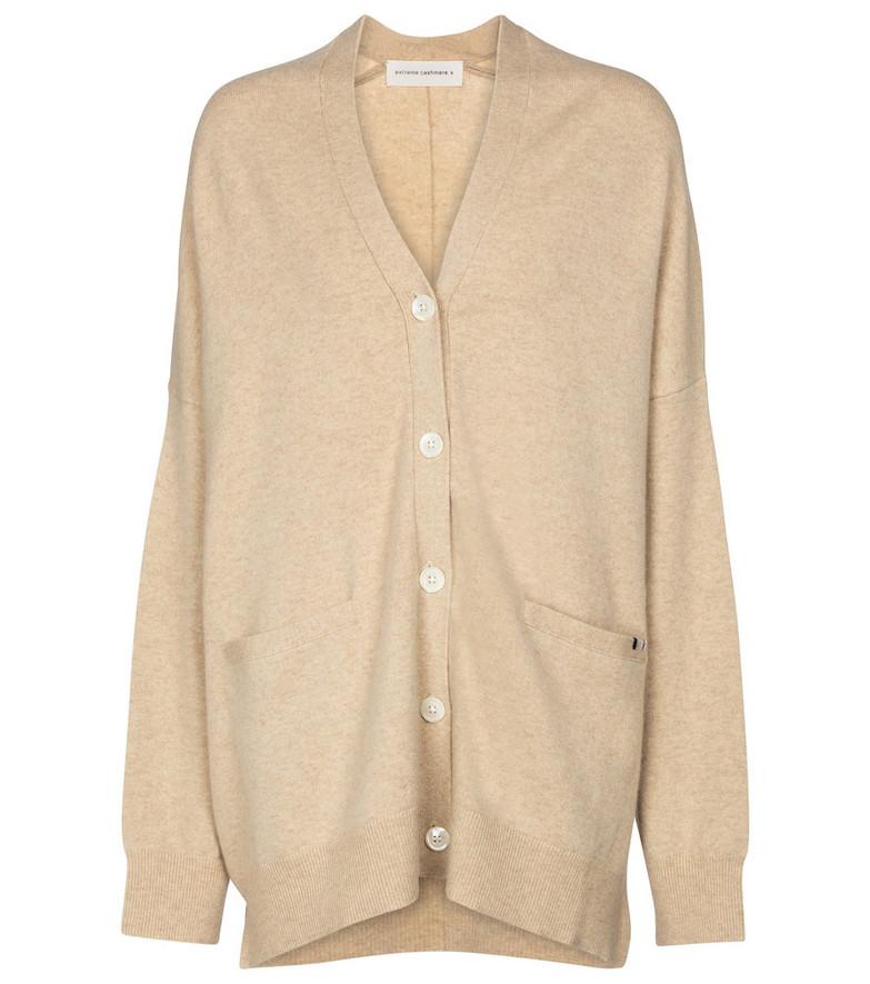 Extreme Cashmere N° 24 Tokio cashmere-blend cardigan in beige