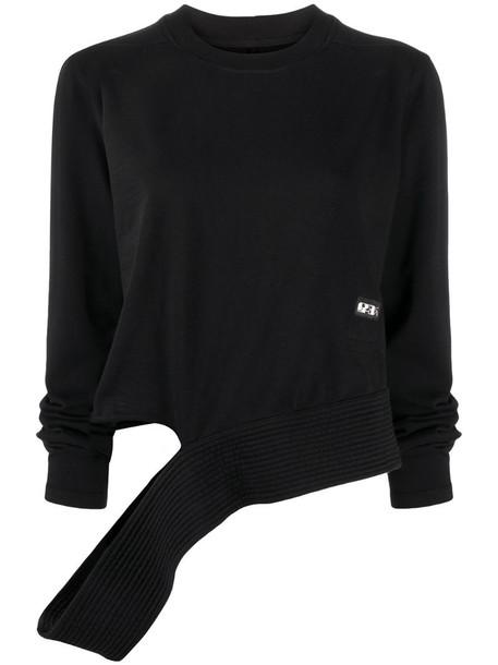 Rick Owens cut-out crew neck sweatshirt in black