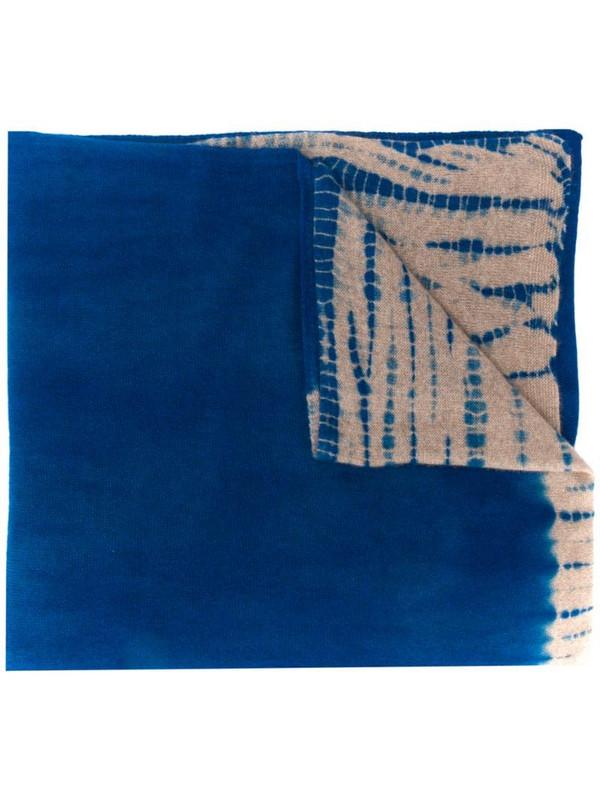 Suzusan tie-dye print scarf in blue