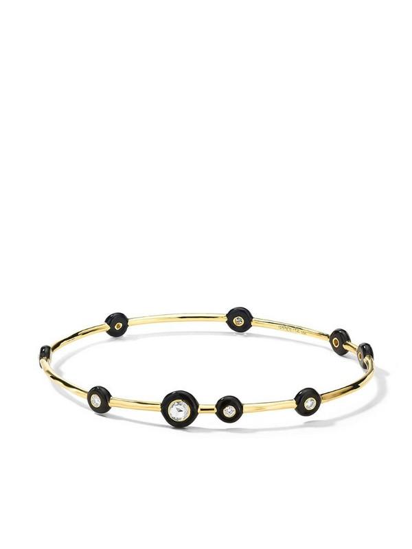 IPPOLITA 18kt yellow gold Carnevale Stardust 9-Stone diamond and ceramic bangle
