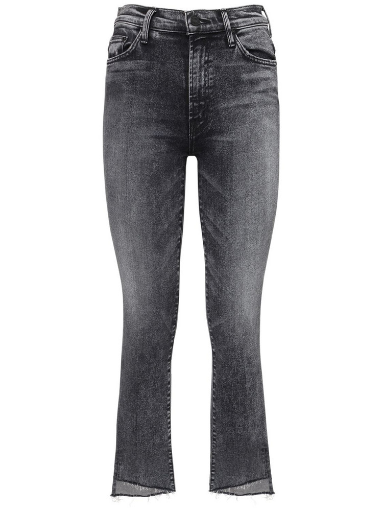 MOTHER The Insider Crop Step Fray Jeans in grey