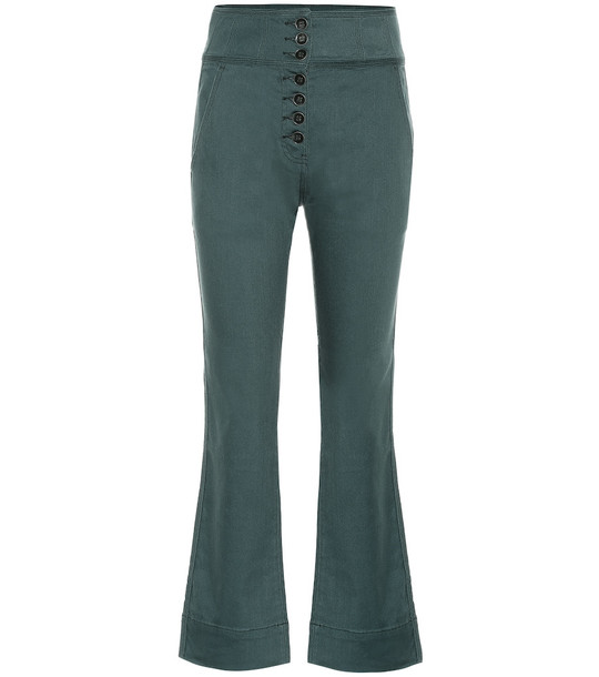 Ulla Johnson Ellis high-rise cropped jeans in green