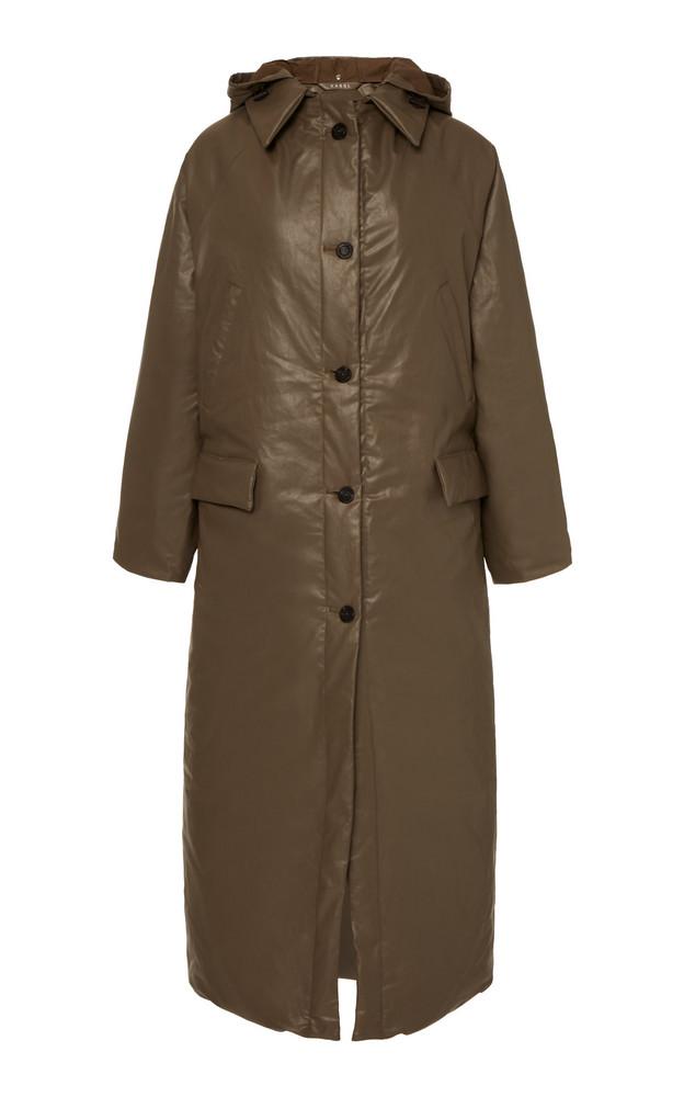 Kassl Nylon Maxi Puffer Coat Size: S in brown