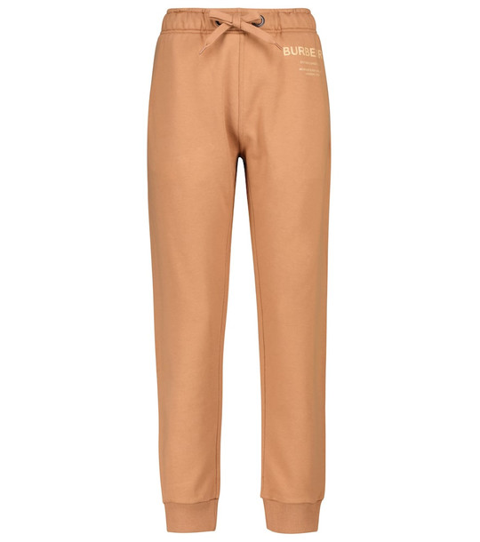Burberry Horseferry cotton jersey sweatpants in brown